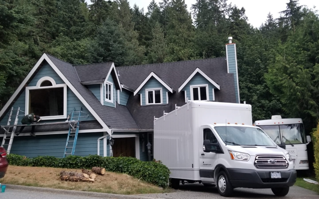silverline exterior solutions installing windows with their service car